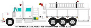 Peterbilt 377 Blanchat pumper tanker base