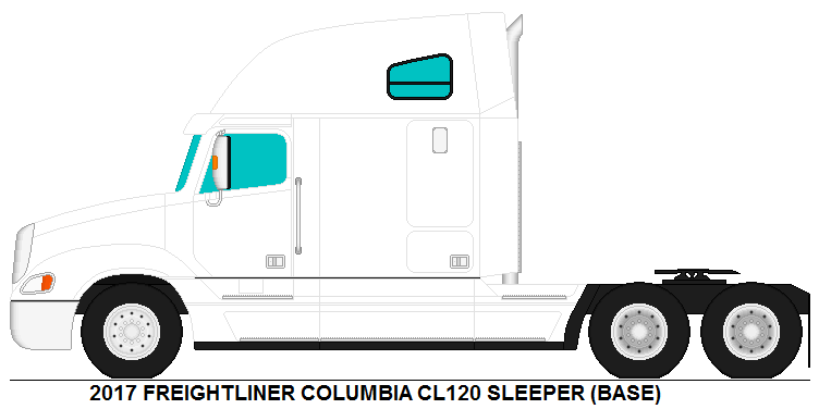 Freightliner Columbia CL120 Sleeper base by
