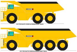 Psycauto mining dump trucks by MisterPSYCHOPATH3001