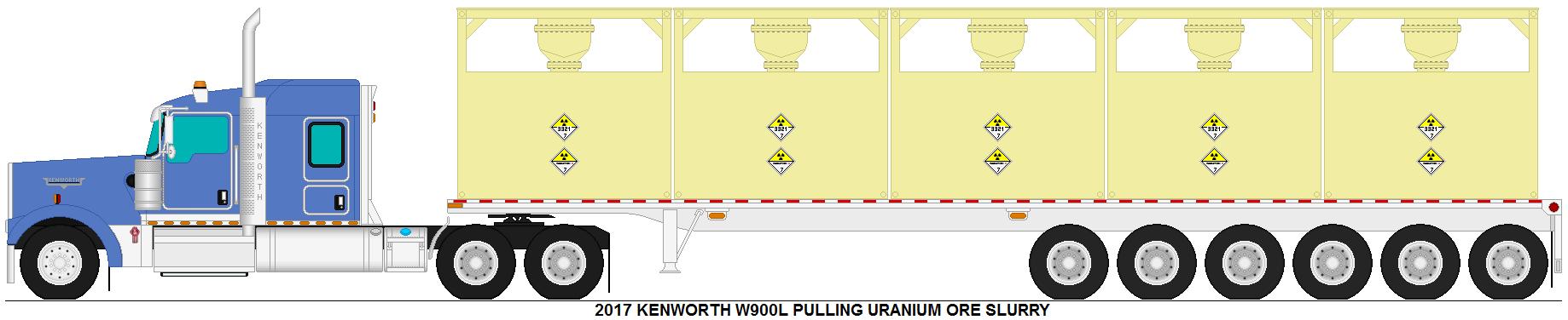 Kenworth W900L pulling uranium ore slurry by MisterPSYCHOPATH3001