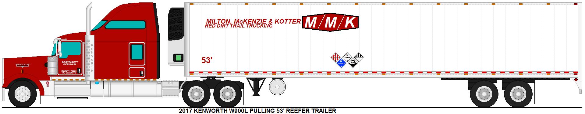 Kenworth W900L pulling reefer trailer by MisterPSYCHOPATH3001