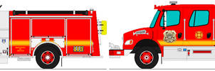 Riverdale Fire Dept. engines 113 and 114