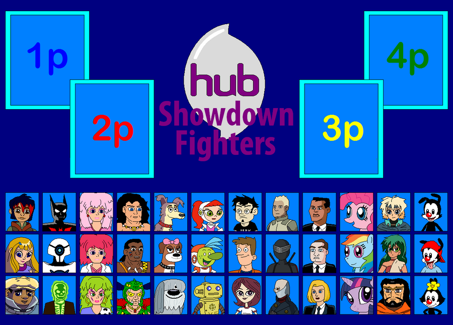 HUB Showdown Fighters Board by Gamekirby