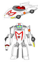 The Mach 5 as a Transformer by Gamekirby