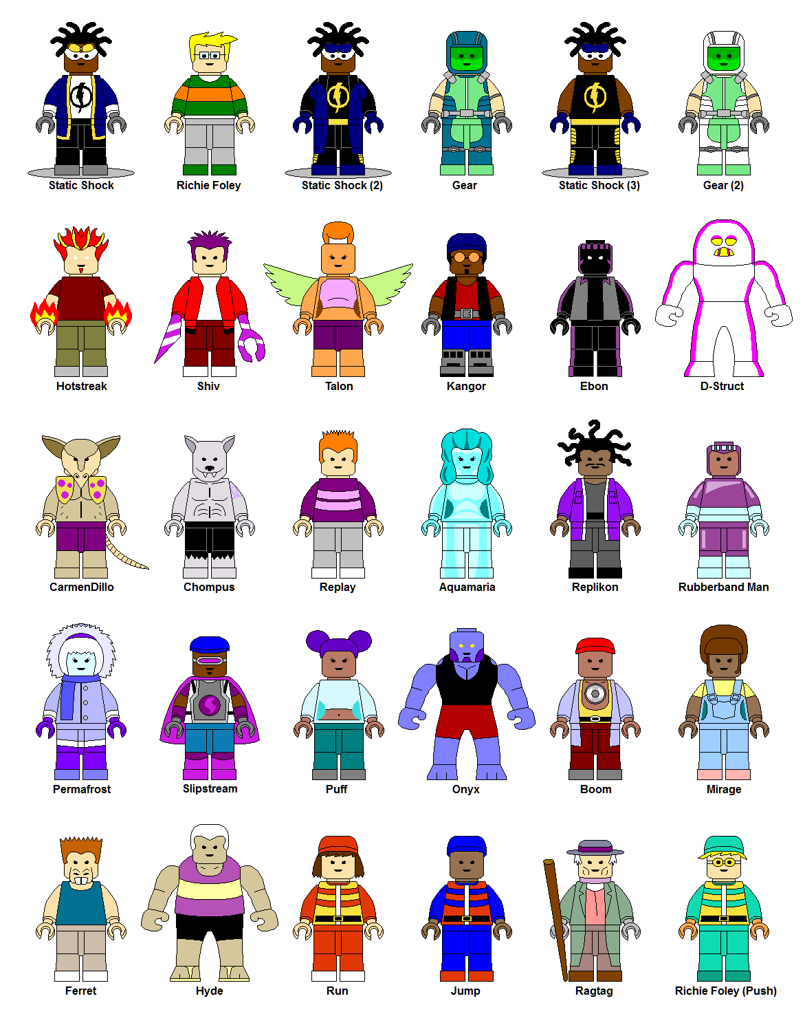 how to make lego characters