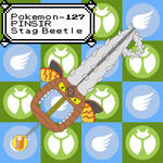 Pokemon Keyblade 127 - Mega Pinsir by Gamekirby