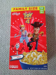 Toy Story 4 Cereal Box Side 1 by Gamekirby