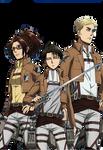 Hanji, Levi and Erwin Render