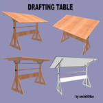 DRAFTING TABLE FBX and OBJ