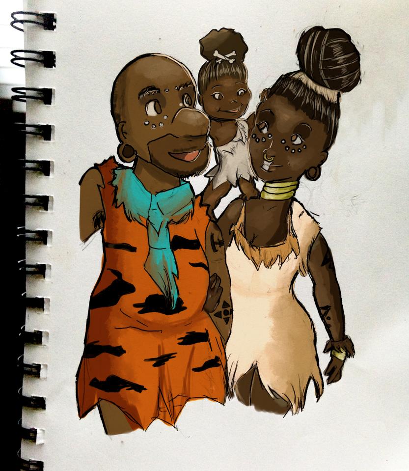 African Flintstones by tokyoterrorart