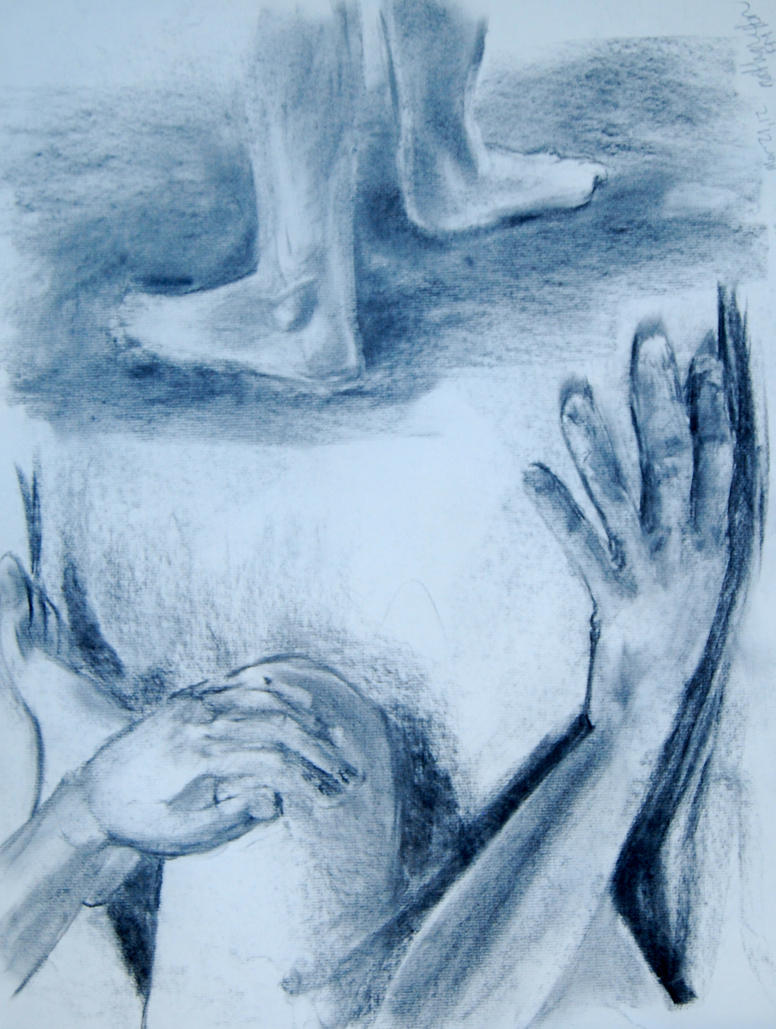 Hands and Feet Charcoal by NateTheKnife on DeviantArt