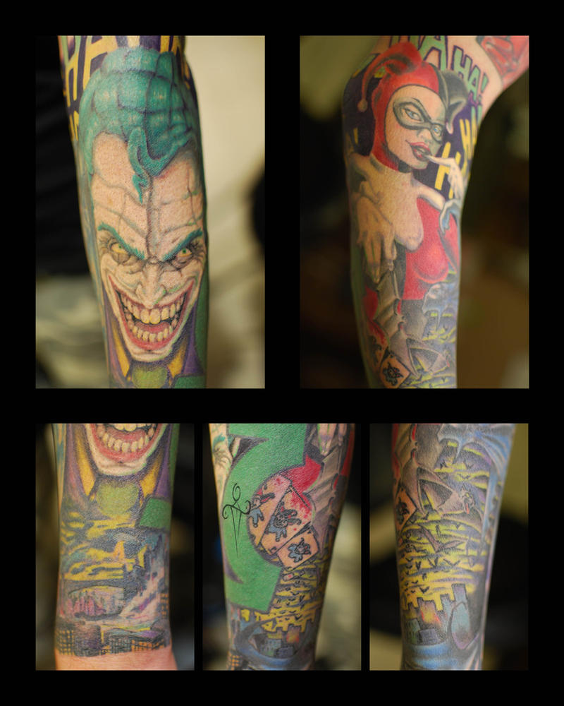 Joker and Harley Tattoo Close Ups by NateTheKnife on ...
