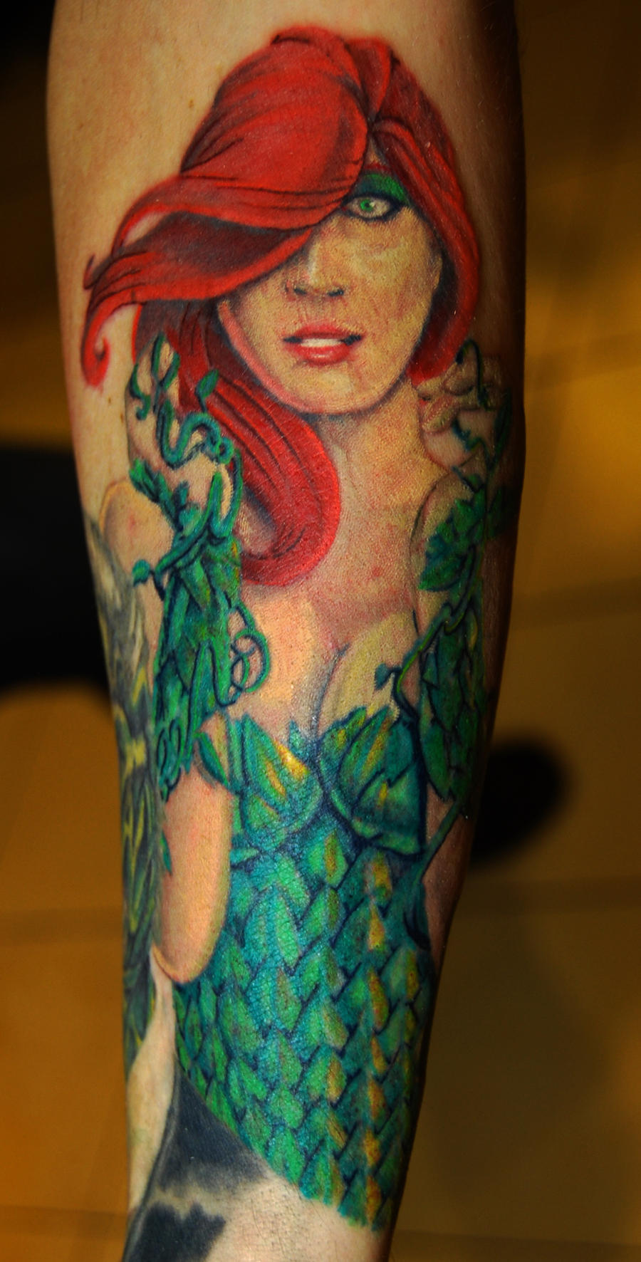 Back tattoo making jack skeleton tattoos for Poison ivy vine tattoos