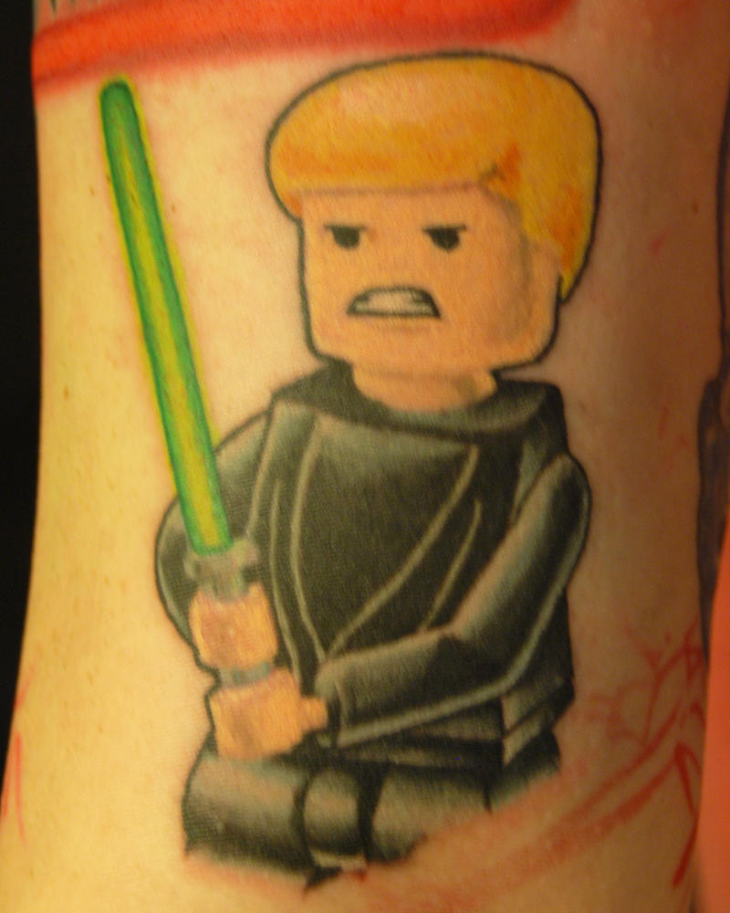Lego luke skywalker tattoo by natetheknife on deviantart for Luke skywalker tattoo
