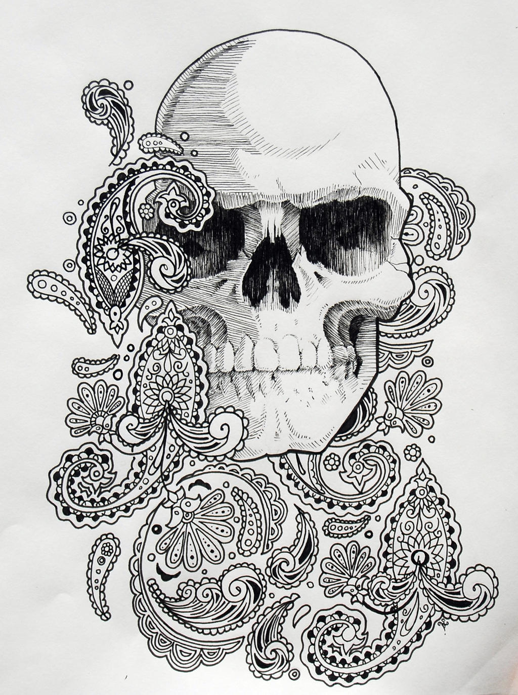 Paisley Skull by NateTheKnife