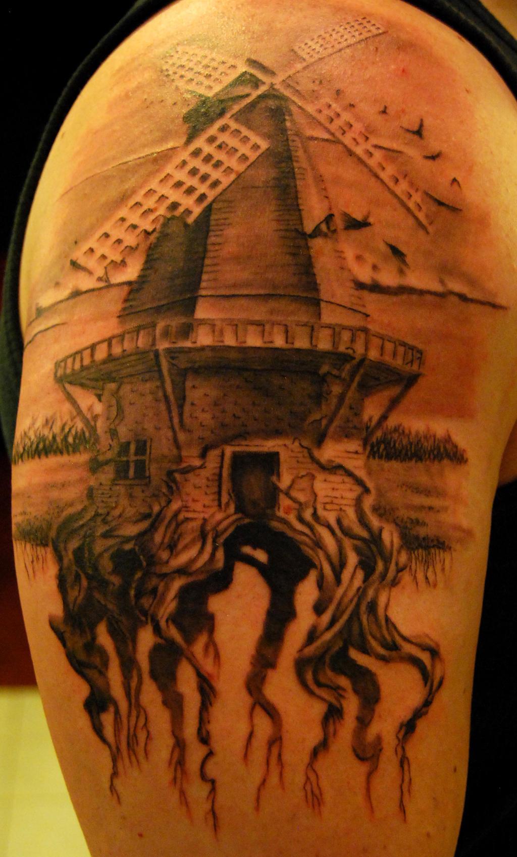 Windmill Tattoo by NateTheKnife