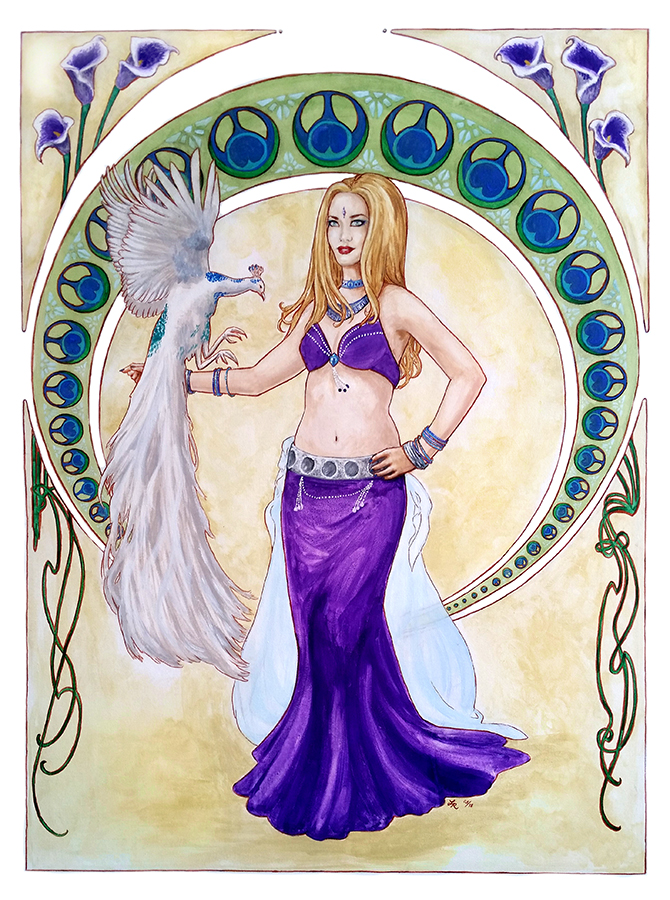 Jenn Shamsa by laurenmegan-art
