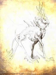 Deer Spirit by Kiiku