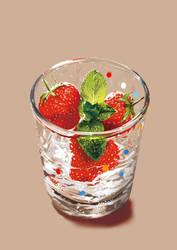 Strawberries by shadychan