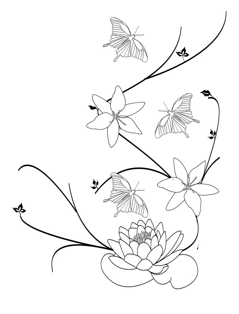 Lily Tattoo Line Drawing : Water lily by rinoa on deviantart