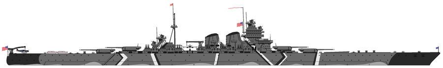 Hypothetical Battleship, 1945