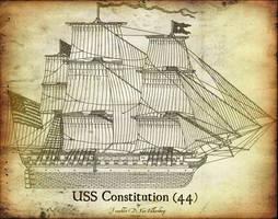 USS Constitution Antiqued by CdreJohnPaulJones