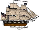 USS Constitution Colored