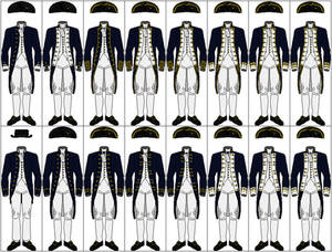 Uniforms of the Royal Navy, 1767-1787