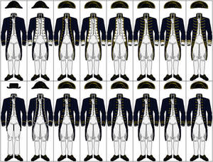 Uniforms of the Royal Navy, 1787-1795