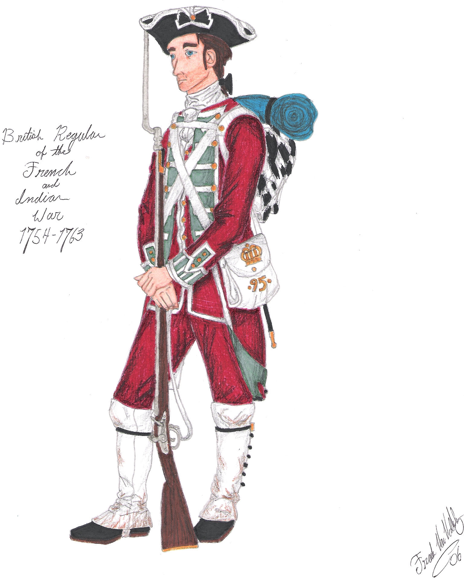 Redcoat Soldier The redcoat - 1763 by