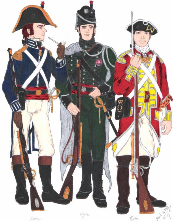 The Three Musketeers by CdreJohnPaulJones