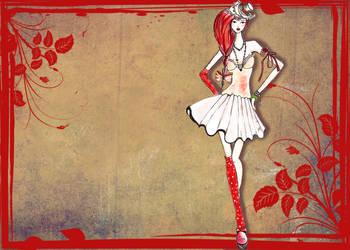 Autumn fashion sketch by Lara-style