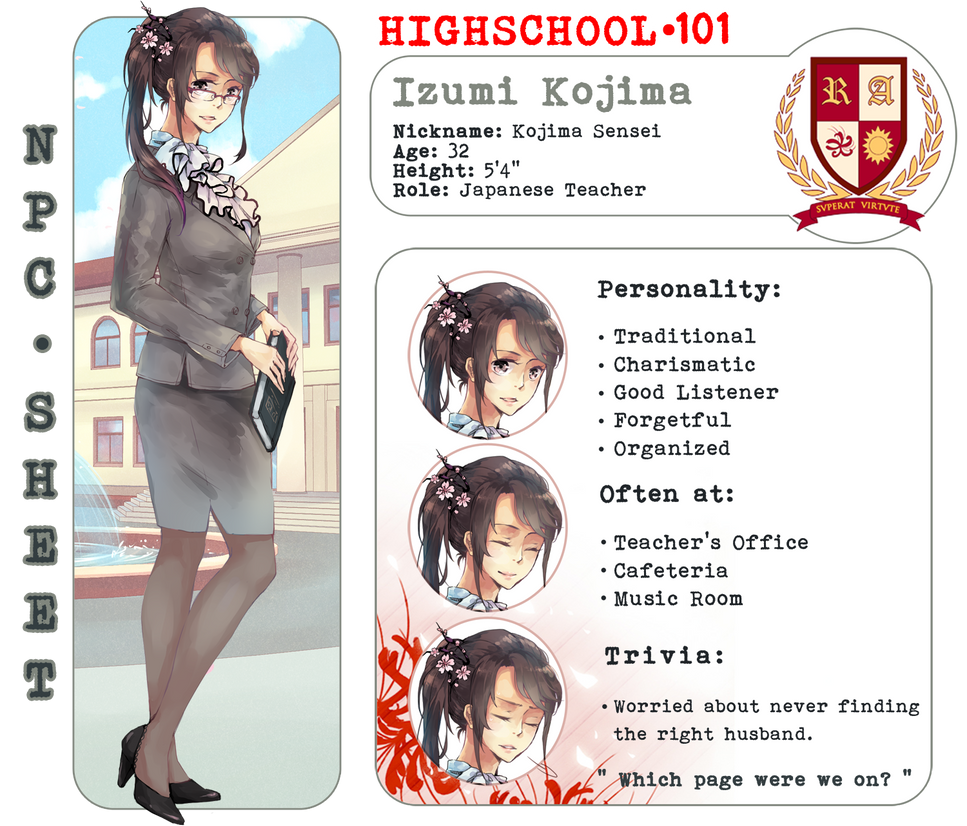 HS101: Izumi Kojima [NPC] by onedayfour
