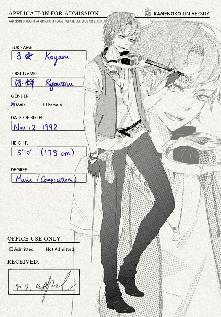KU: Koyasu Ryouteru by onedayfour