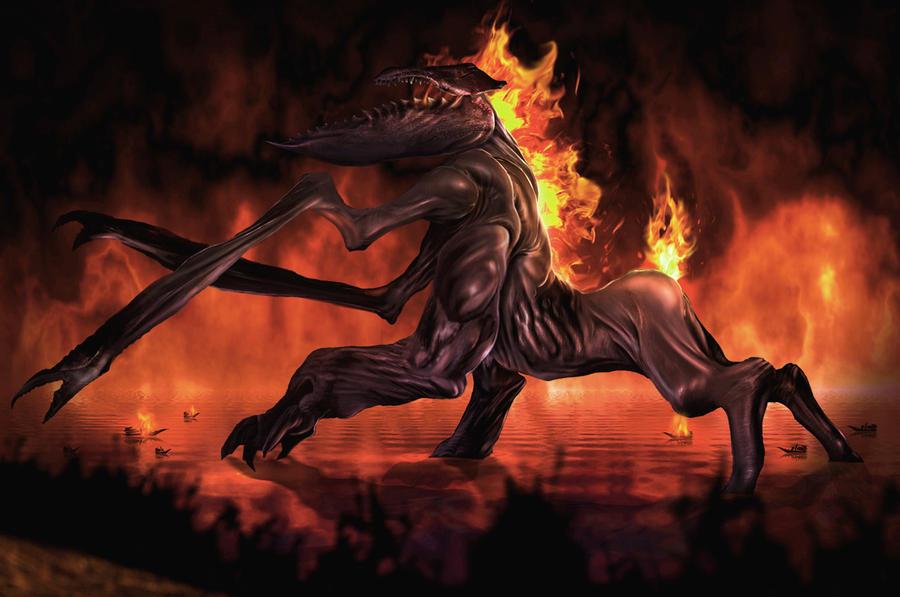Fire Colossus by nichiyobi