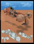 Neton Desert Speeder Concept Art by Fixxelious