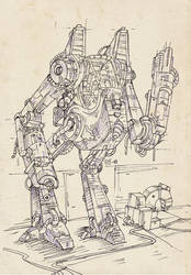 Boceto Robot by Francundo
