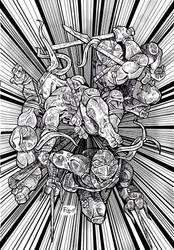 Tortugas en accion by Francundo