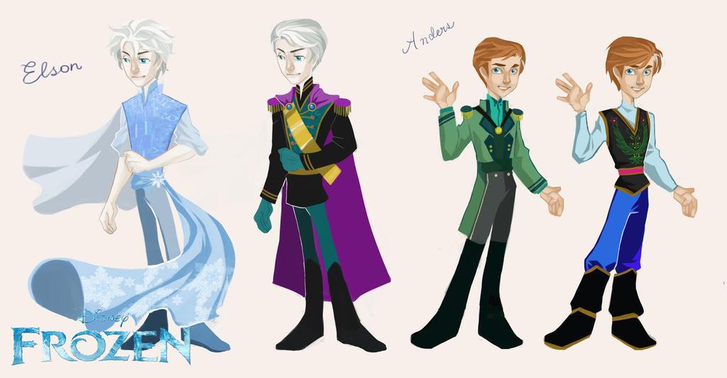 Genderbend Frozen by Glory-Day