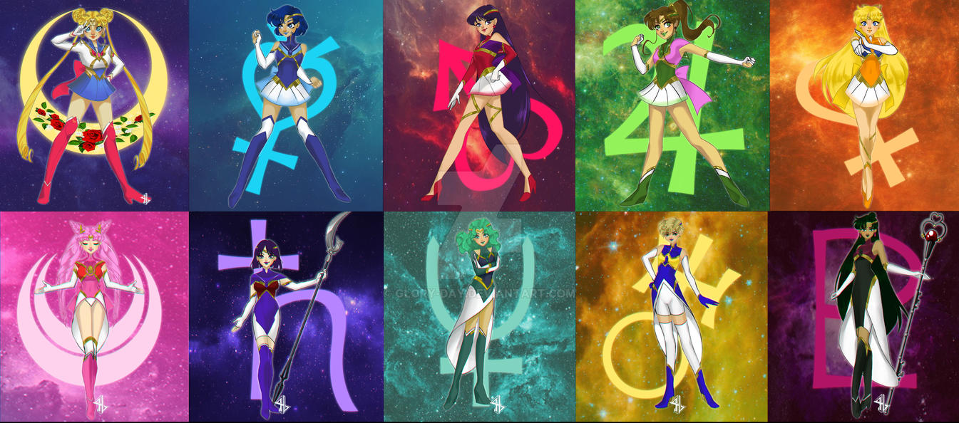 Sailor Moon Infinity Inner + Outer by Glory-Day