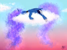 Sleepy Luna by Wolly-Dream