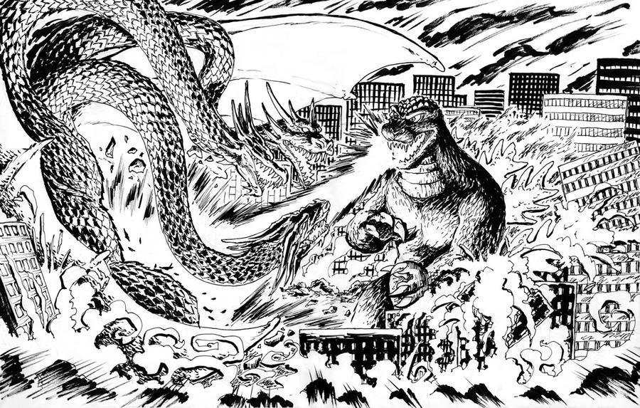 Go Go Godzilla! by NicoBlue
