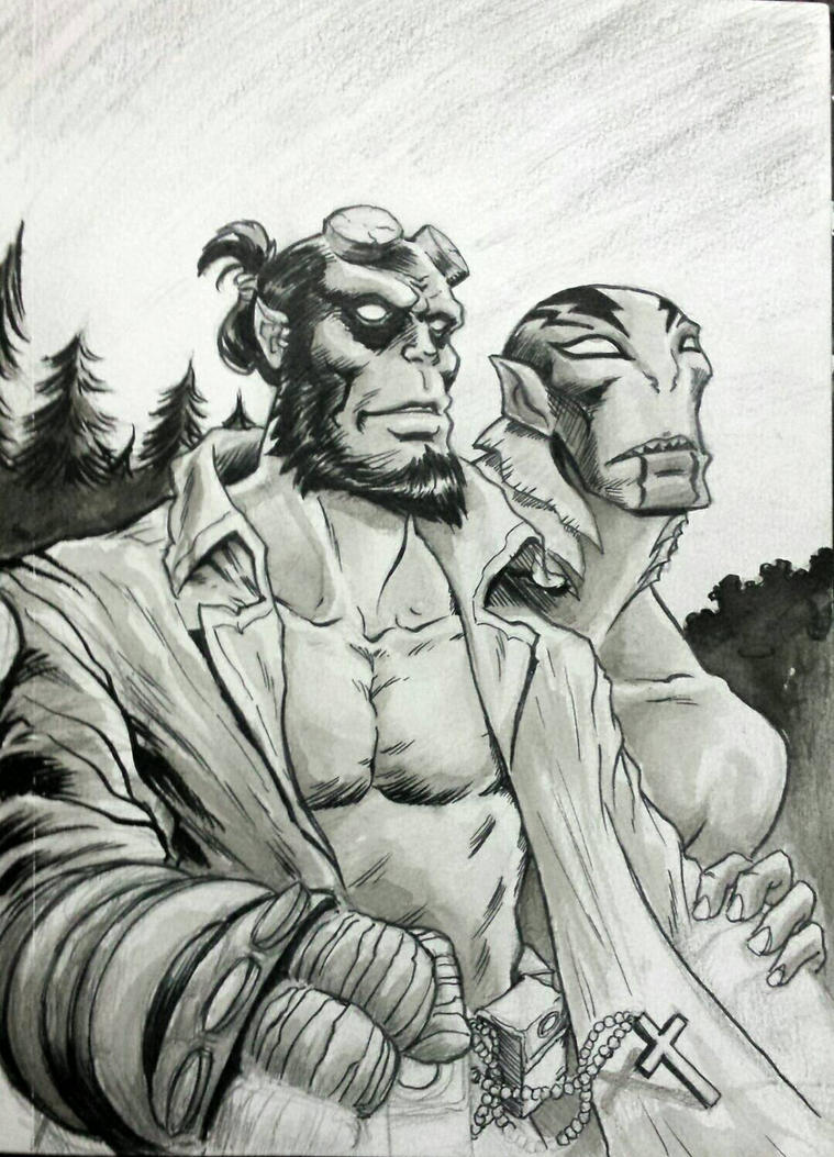 Hellboy and Abe by NicoBlue