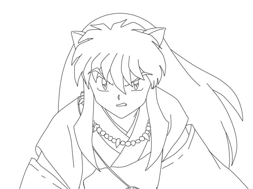 online coloring pages inuyasha - photo#21