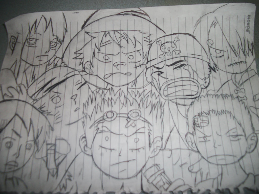 One Piece Lineart : One piece drawing by zoro1223 on deviantart