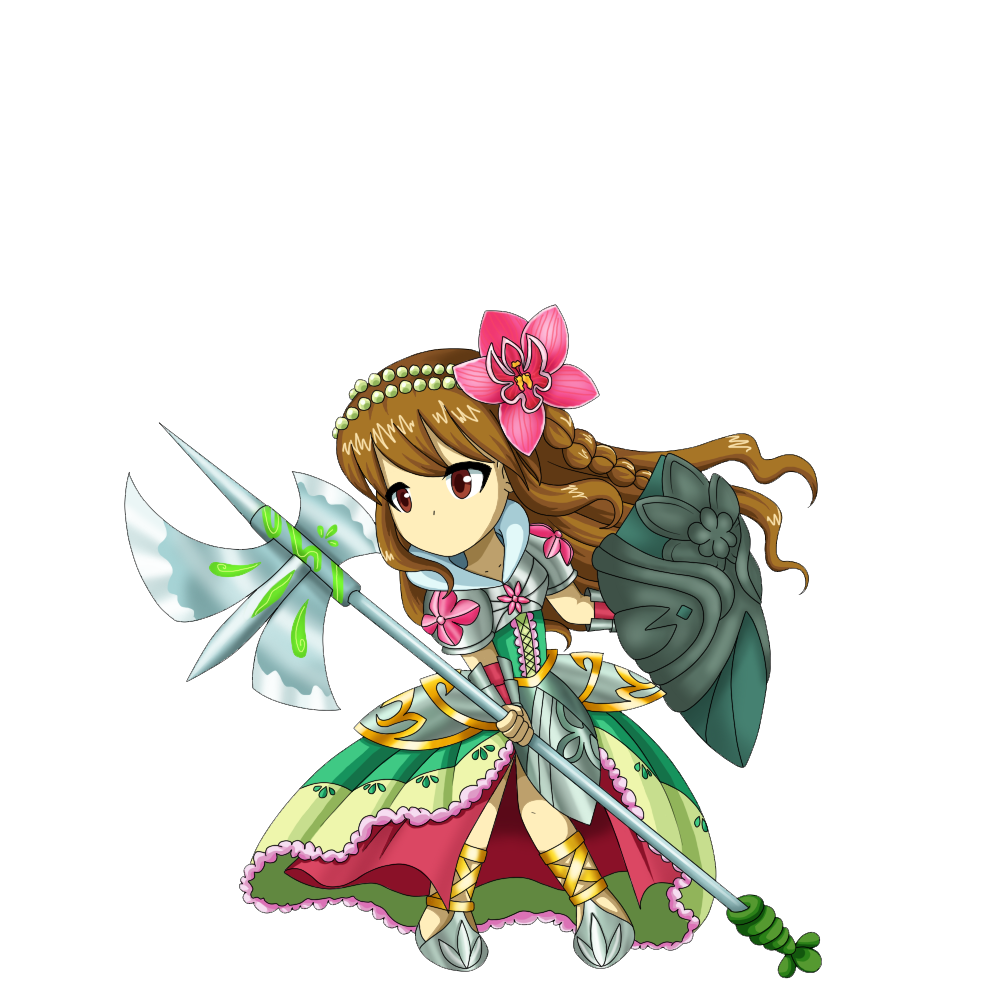 Brave Frontier Character Design Contest : Padma brave frontier unit art contest by dirroronna on