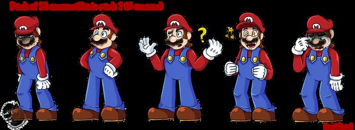 Commission#20:Mario and Luigi pack of emotes 1