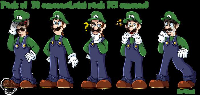 Commission#22:Mario and Luigi pack of emotes 3