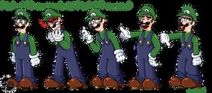 Commission#23:Mario and Luigi pack of emotes 4