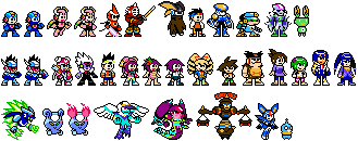 Battle Network/Star Force MMClassic style sprites